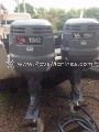 USED 1997 PAIR YAMAHA TWO STROKE 150 HP OUTBOARD MOTOR FOR SALE