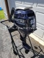 """USED 2019 TOHATSU 9.8 HP FOUR 15"""" INCH SHAFT STROKE OUTBOARD MOTOR"""